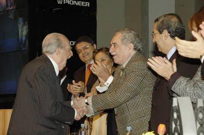 Rogelio García Lupo y Gabriel García Márquez.