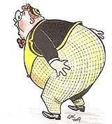 Fatty Lampard: raided the tuck shop