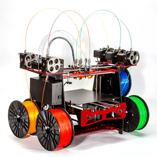 A Five-Extruder 3D Printer - With No Name