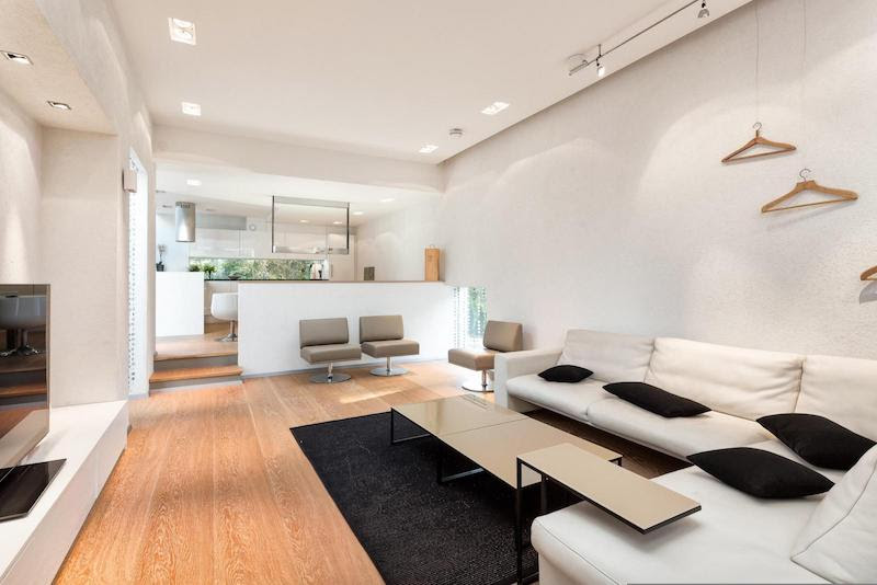 Modern interior design with architectural character and ...