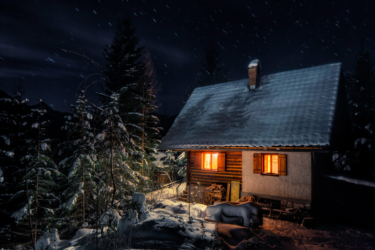 "Cabin at Jezersko valley in the Alps, Slovenia ""airbnb "" Submitted by Mitja Kobal"