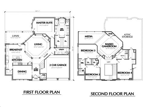 story house floor plans simple  story house
