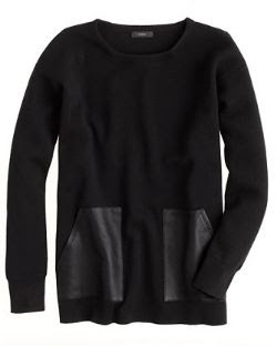 J.Crew Merino Leather-Pocket Sweater