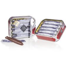 Rybki z mlecznej czekolady, czekoladki chocolissimo, upominek dla mężczyzny, dla wędkarza, czekolada francuska