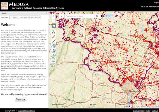 Maryland Historical Trust launches Online Mapping Tool for Preservation and Archaeology