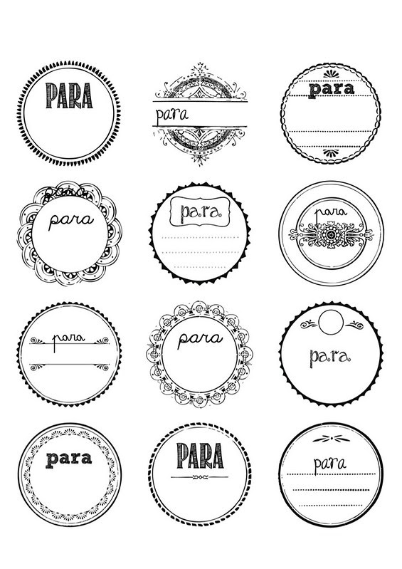 etiquetas PARA