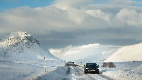 BBC News - Temperature dips to -12C on coldest night of winter