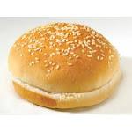 Flowers Foods European Bakers Sliced Sesame Hamburger Bun, 4 inch - 12 per pack - 8 packs per case.