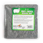 "Felted Wool Pressing Mat~100% Wool by the Precision Quilting 9"" x 9"""