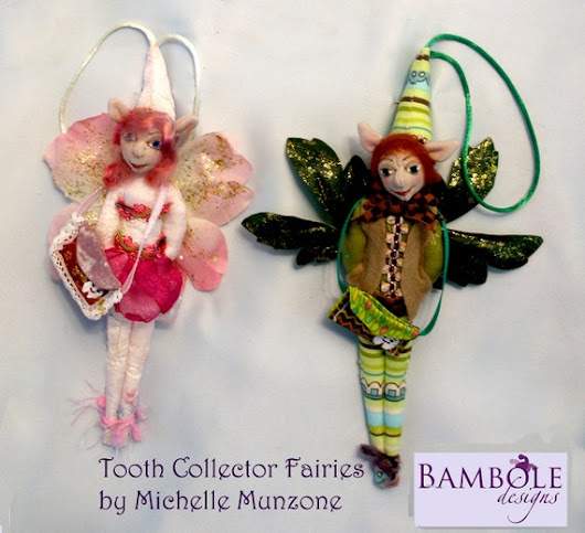 NEW E-Pattern TOOTH FAIRIES Height 23 cm 9 Tall  by michelledolls