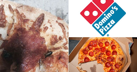 Domino's Pizza customer finds COCKROACH in his food after mistaking it for an olive