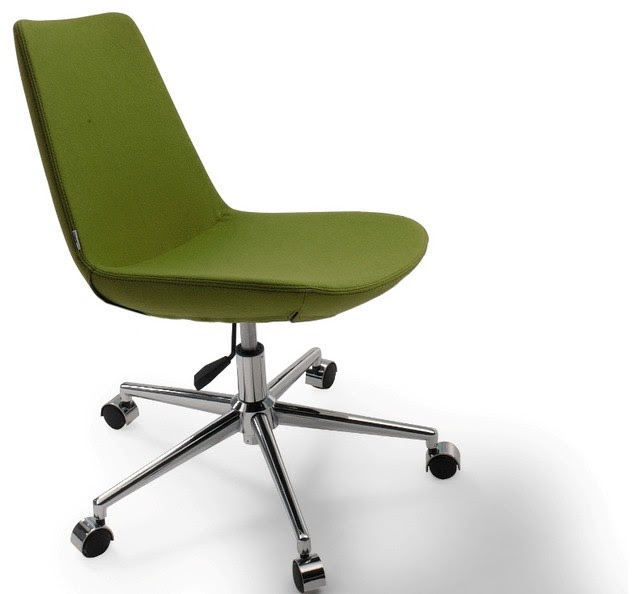 Eiffel Office Chair by sohoConcept - Green Leatherette ...