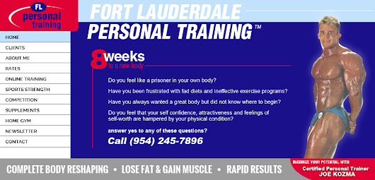 Fort Lauderdale Personal Training | Joe Kozma | Broward County and Pompano Beach personal trainer fitness weight loss