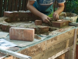 DIY Outdoor Kitchen and Pizza Oven - Outside brick pizza oven