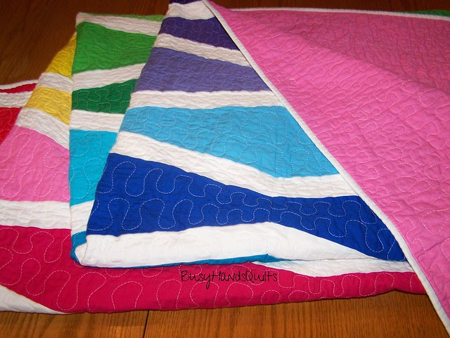 Rainbow Wave Quilt in Twin Size