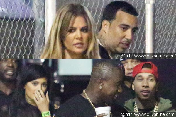 Khloe Kardashian and Kylie Jenner Double Date at Chris Brown Concert