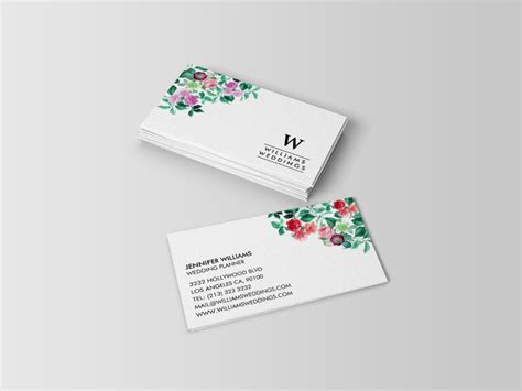 Elegant Wedding and Event Planner Business Cards   J32 DESIGN