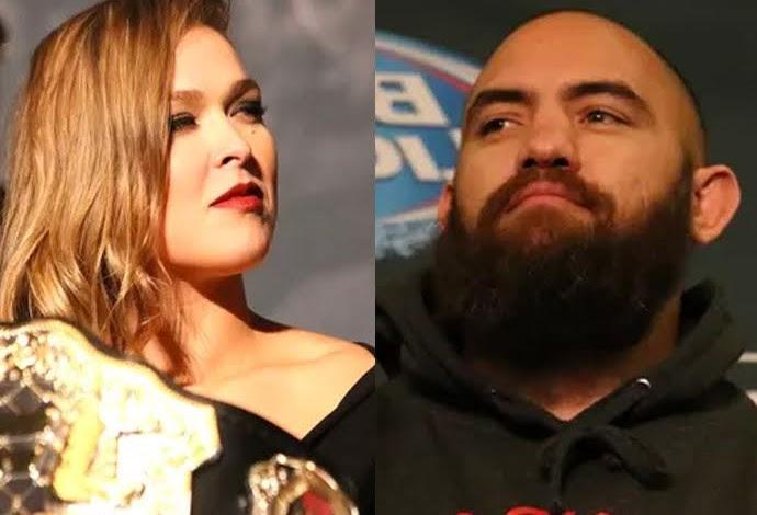 Ronda Rousey e Travis Browne montagem (Foto: Reprodução)