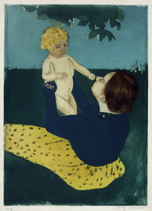 fustanella:  Mary Cassatt, Under the horse chestnut tree, c. 1898.