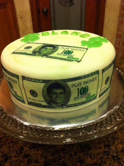 Birthday cake for 17 year old boy. He wanted money all