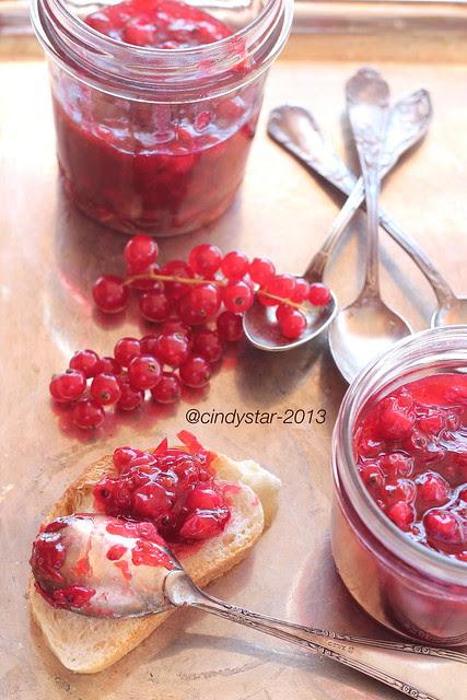 röda vinbär marmelad-redcurrant jam-confettura ribes rosso