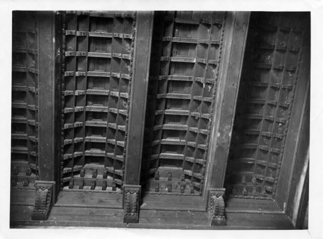 Artesonado del Palacio de la Sisla  © Fondo Rodríguez. Archivo Histórico Provincial. JCCM. Signatura CGD2-078