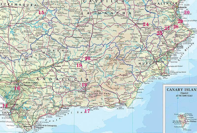 Carte Espagne Et Portugal Detaillee.Carte Espagne Detaillee Carte