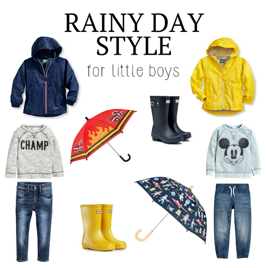 Rainy Day Style for Little Boys - Southern Made Blog