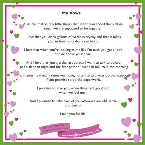 A simple way to write your wedding vows   Ruby B