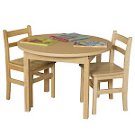 Wood Designs 36RNDHPL20 Round High Pressure Laminate Table With Hardwood Legs- 20 In.