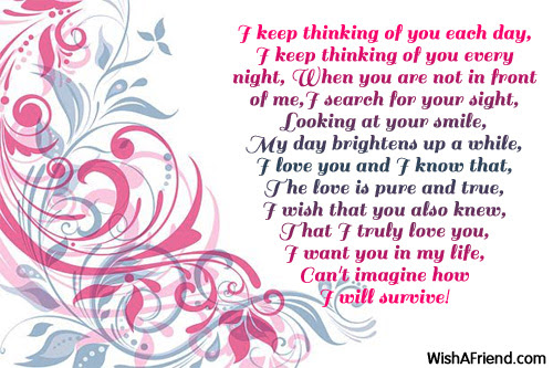Thinking About You I Love You Poem