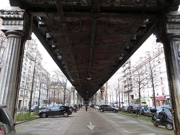 sous le pont du métro
