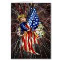 Vintage Patriotic Child and Fireworks card