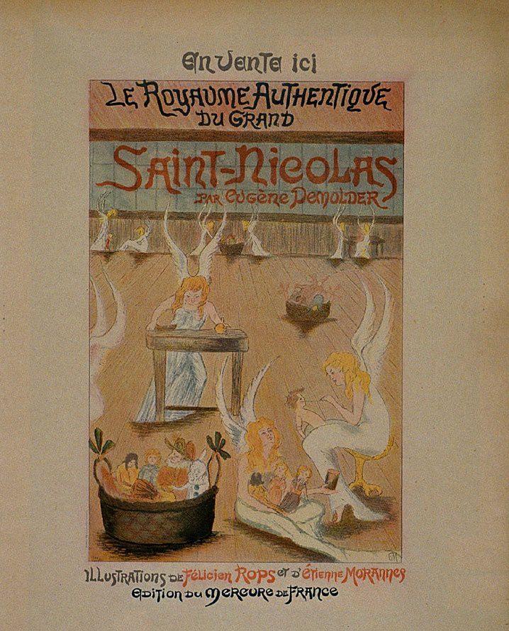 """Affiche de librairie pour """"Le Royaume authentique du grand saint Nicolas"""" par Étienne Morannes (Claire Demolder-Rops)"""