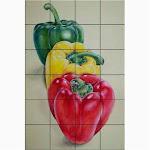 """Ceramic Tiles Mural #027 (24 Pieces) 6"""" X 6"""""""
