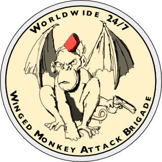 The official un-official patch of the Winged Monkey Attack Brigade