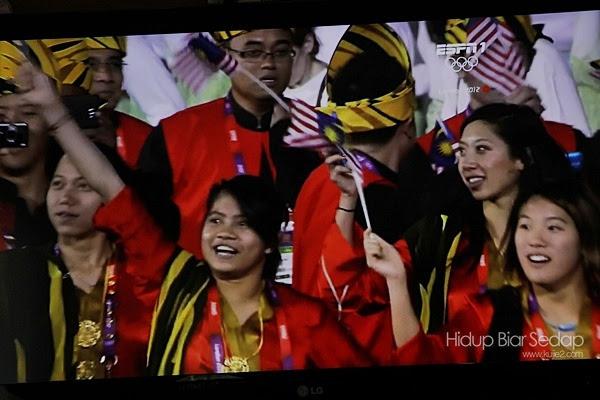 perarakan masuk pasukan malaysia olimpik 2012