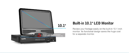 DVR Sannce 8CH 1080N DVR With Monitor for Surveillance Camera System