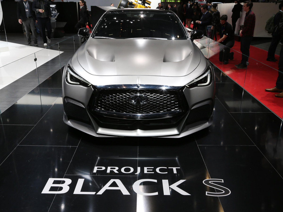 Infiniti introduced the Q60 Project Black concept with a heavy dose of Formula One technology.