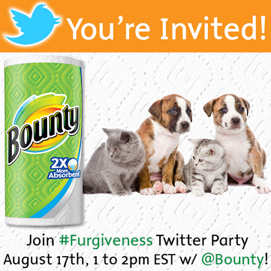 Join @Bounty as we celebrate a Pet #Furgiveness Twitter Party! w/ Visa gift card prizes! - Your Life After 25: