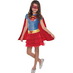 Halloween Supergirl Toddler Girls' DC Comics Sequin Costume 3T-4T, Girl's, Size: Small, Red