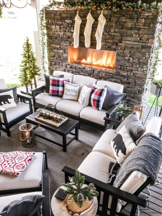 Cozy Christmas Outdoor Living Space - Taryn Whiteaker