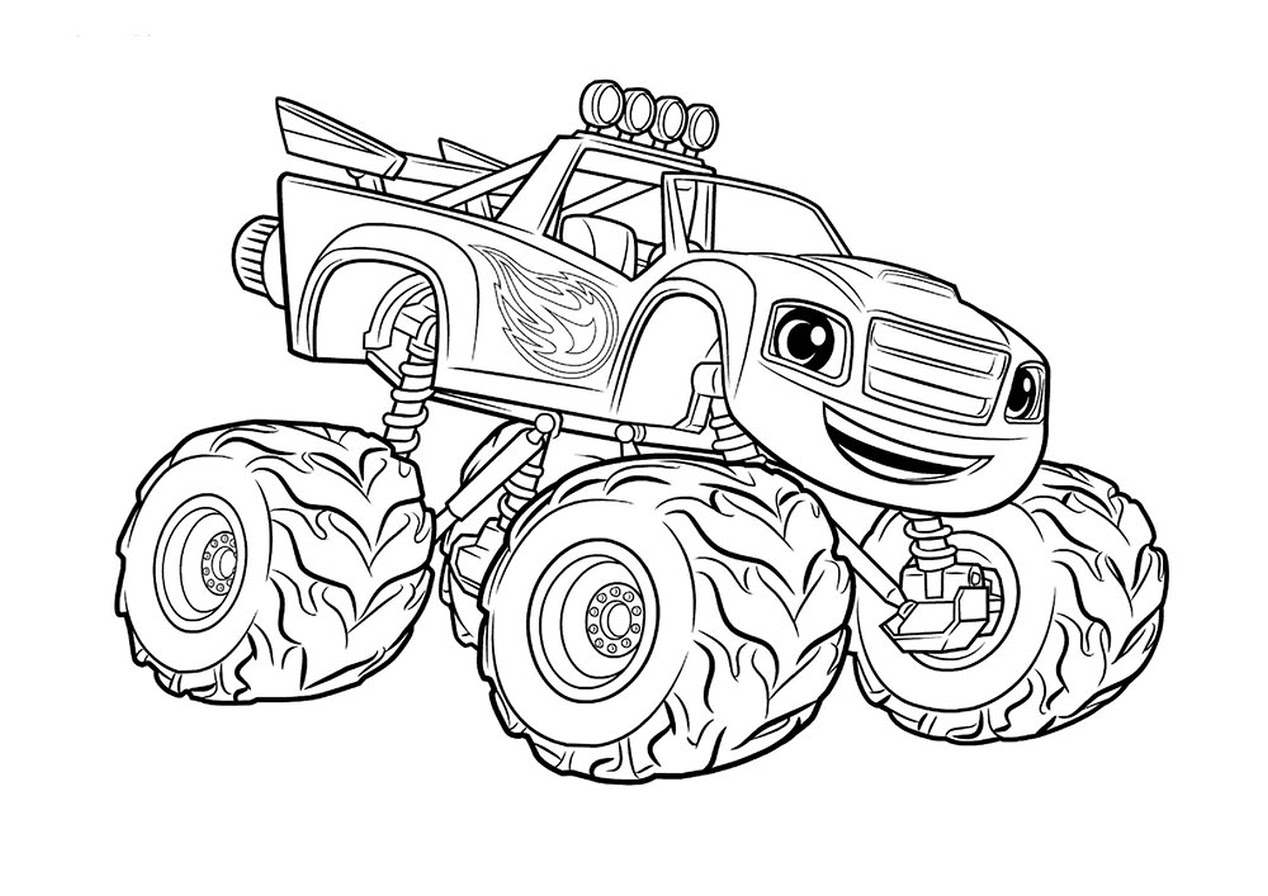 Get This monster truck coloring page free printable for ...
