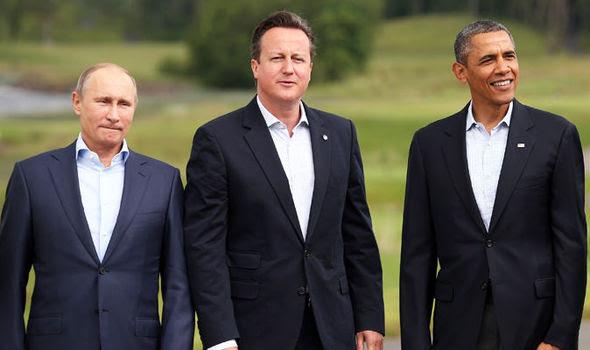 Hình ảnh Báo Anh: Obama, Cameron khẩn thiết đề nghị Putin cùng chống IS số 1