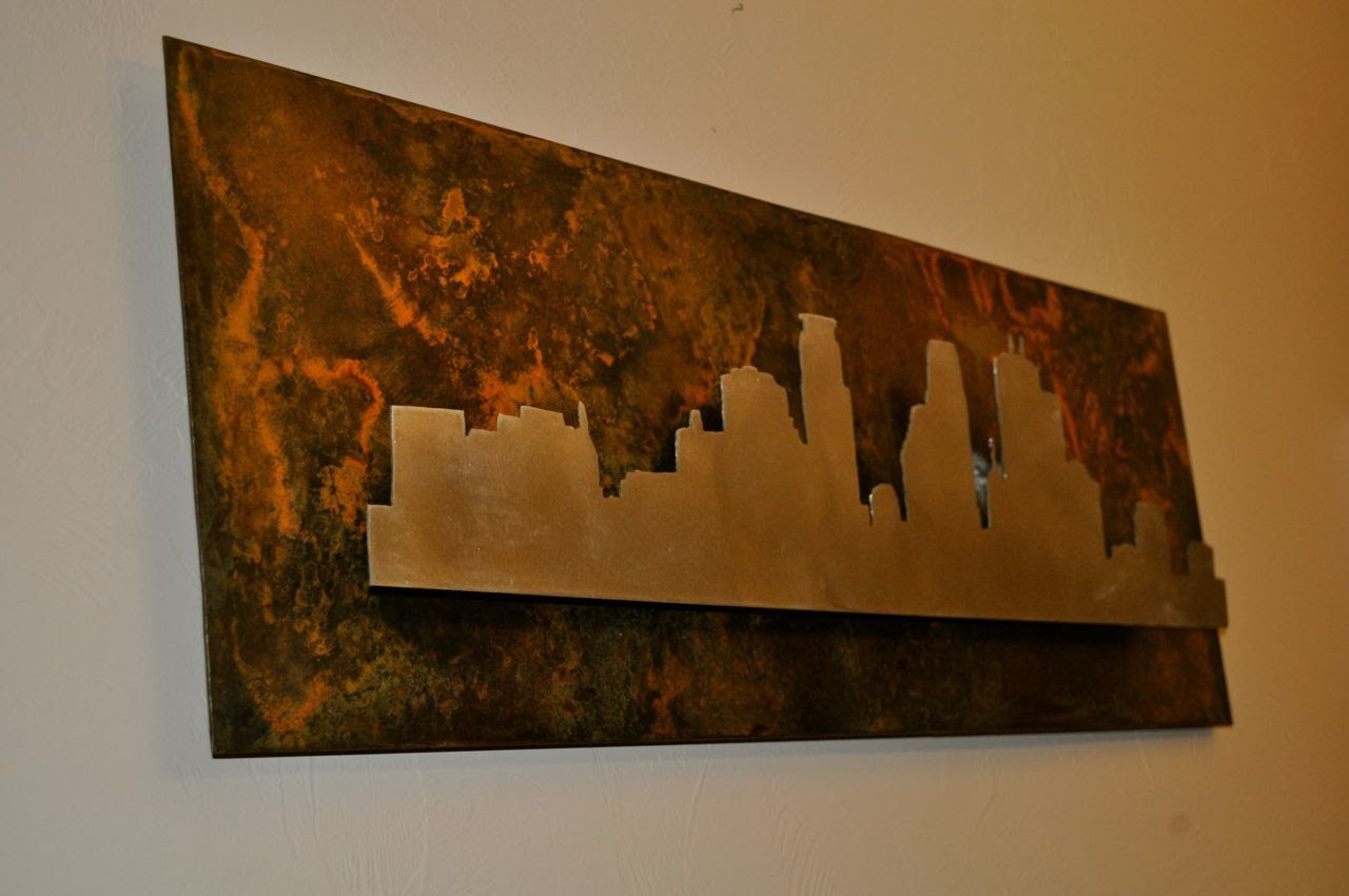 How to build city silhouette wall art out of metal