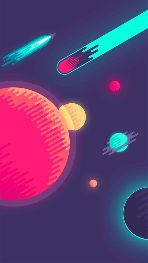 space minimal art illustration iphone  wallpaper