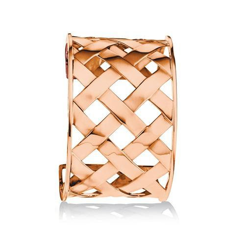 The Criss Cross Cuff in Rose Gold by Verdura. The original concept for this woven look was inspired by Fulco's Panama hat. This cuff has become a great staple piece, but its airy nature seems so appropriate for summer afternoons. $16,750.