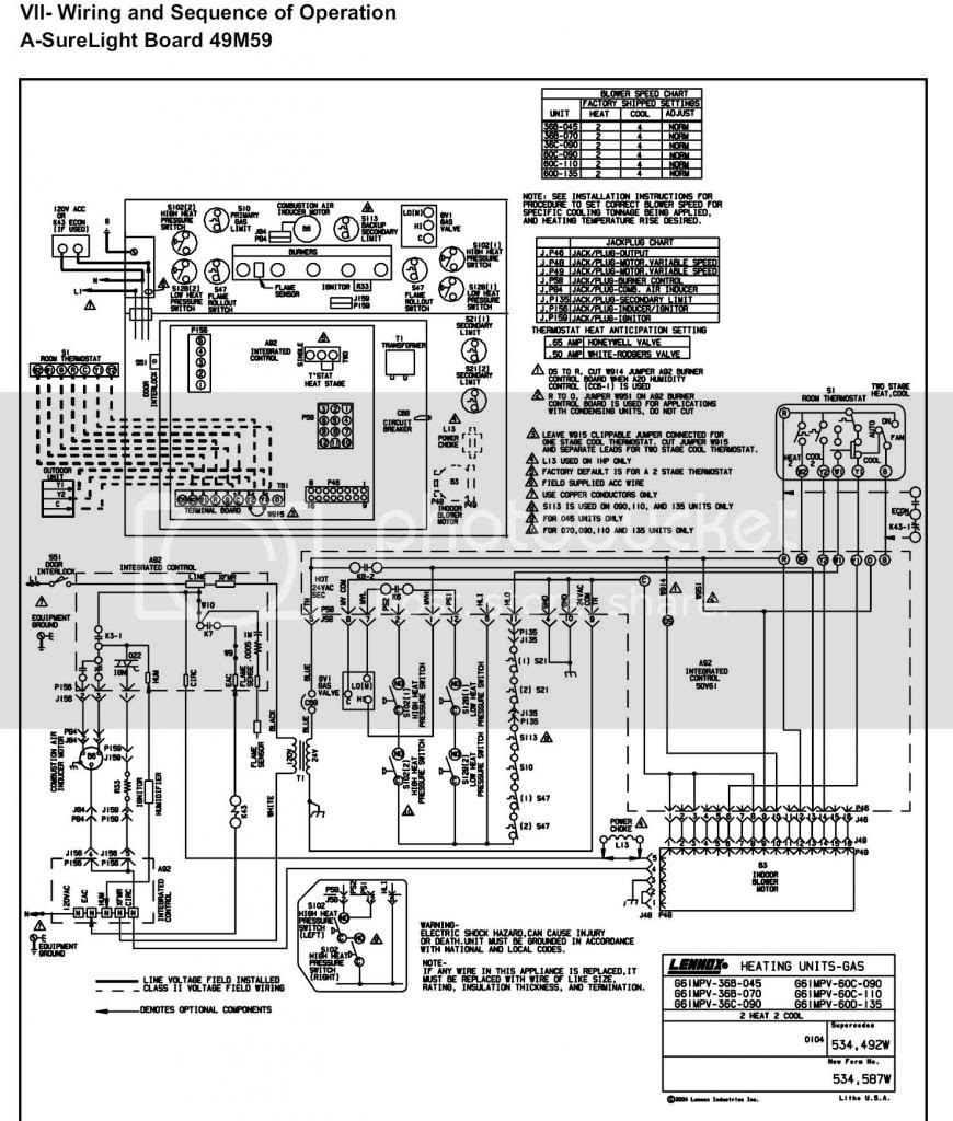Lennox Furnace Control Board Wiring Diagram