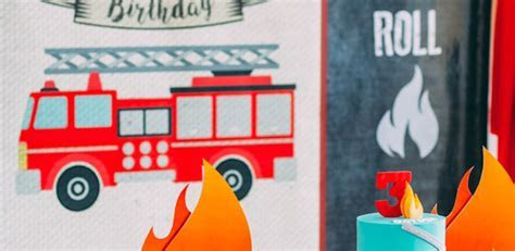 Kara's Party Ideas Rustic Firefighter Birthday Party