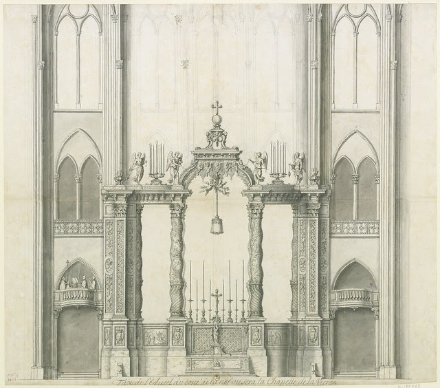design from the Robert de Cotte architectural collection of 17th c. France